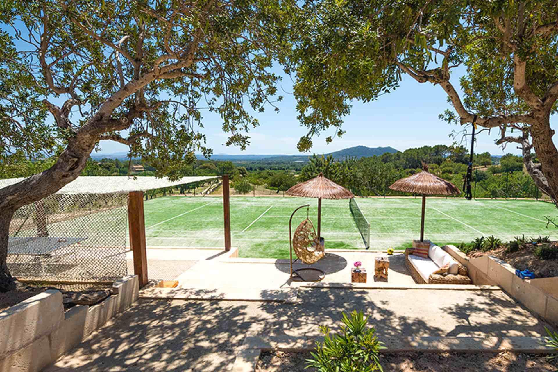 01-355 Tennis Court Finca Mallorca Center Bild 12